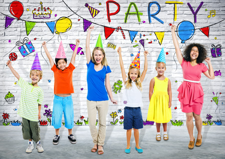 Birthday Party Kids Stockfoto
