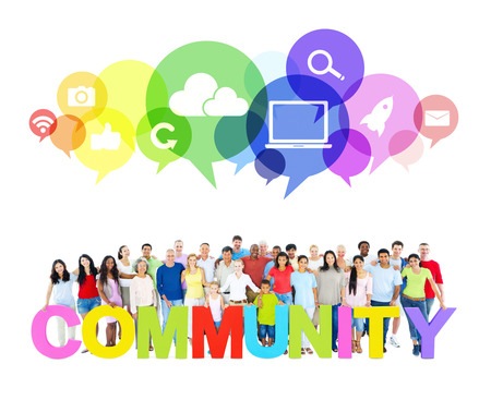 Large Community of Social Networking photo