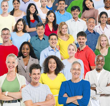 Large group of multi - ethnic people photo