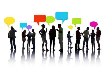 통신: 사람들의 그룹 상호 작용 스톡 콘텐츠