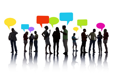 computers and communications: Group of People interacting