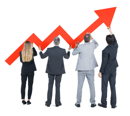 economic recovery: Group of Business People on Economic Recovery