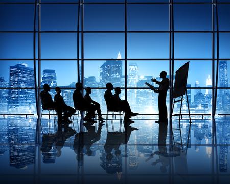 Presentation team in New York City Office Area