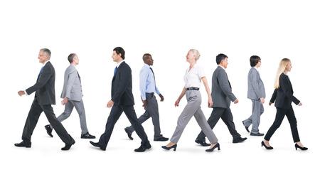 Mullti-etnische groep van business persoon wandelen Stockfoto - 31298663