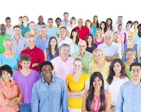 grote multi-etnische groep van mensen