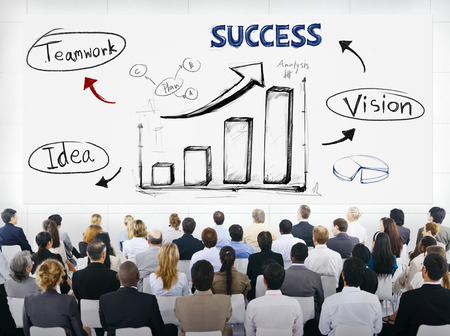 Group of Business People with  Presentation Concept photo
