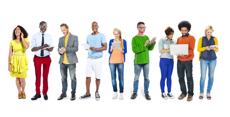 Multi-Ethnic Group of People Social Networking photo