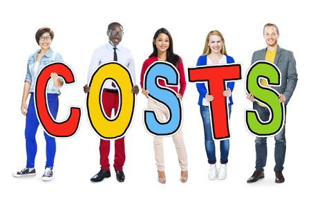 Group of People Standing Holding Costs Letter photo