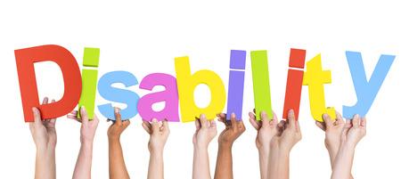 多民族両手で障害者のグループ