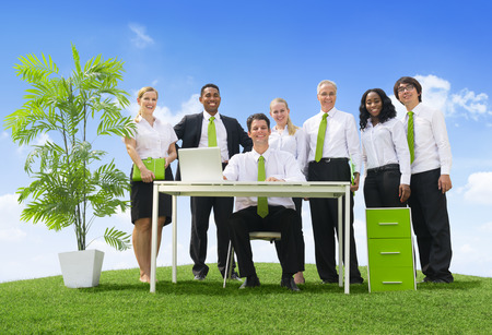 Business People On a Hill photo