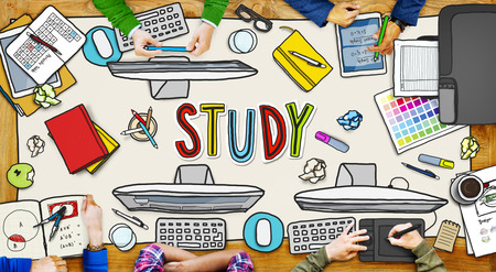 People and Study Concept with Photo Illustrations illustration
