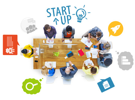 universities: Group of Multiethnic Business People Working Stock Photo
