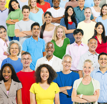 mixed age: Multi Ethnic Group Of People