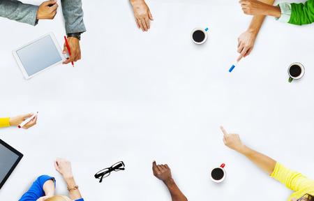 planung: Gruppe Geschäftsleute, die Planung für ein neues Projekt Lizenzfreie Bilder