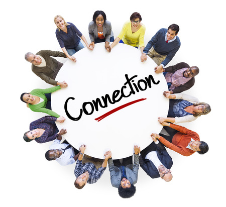 diverse people: Diverse People in a Circle with Connection Concept Stock Photo