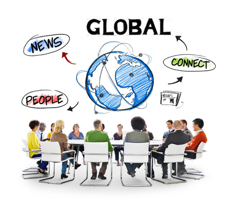 Diverse People Having a Meeting About Global Communication photo