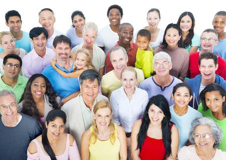 people together: Gran grupo de personas