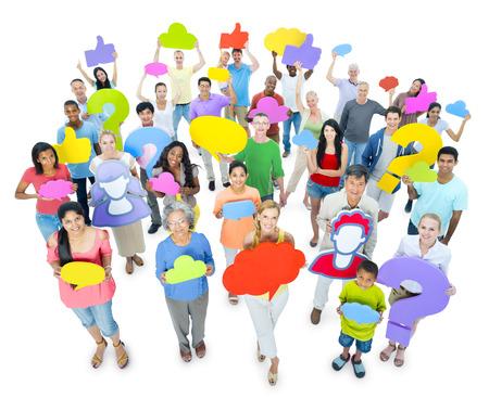 Grupo grande de personas que comparten ideas Foto de archivo - 31292741