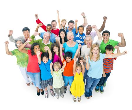 comunidad: Diversas personas felices