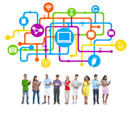 People Social Networking and Internet Concepts photo