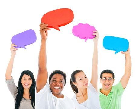 mixed age: Communication Stock Photo