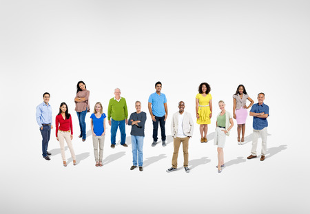 Group of People on White Stock Photo