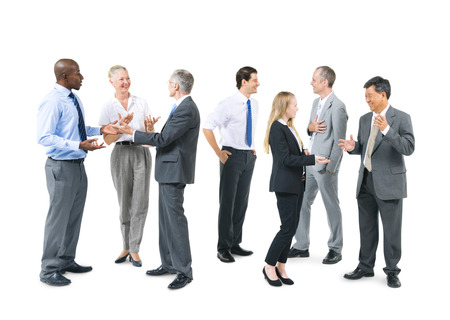 large group of business people: Group of Business People Talking