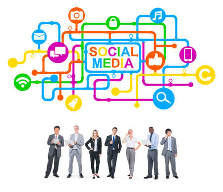 Business People and Social Media Concepts photo