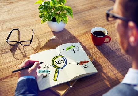 Office Table with SEO Concept photo