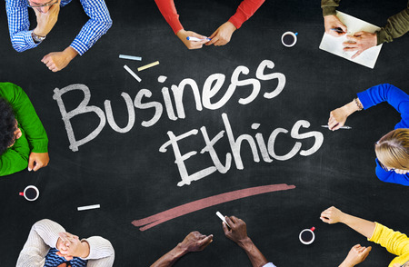 work ethic responsibilities: People Working and Business Ethics Concept