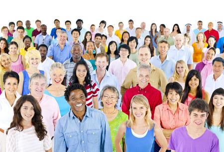 人: 大群種族 版權商用圖片