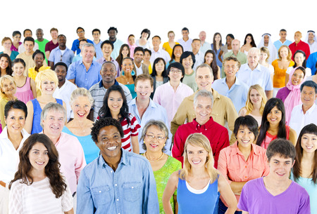 Large group of ethnicity