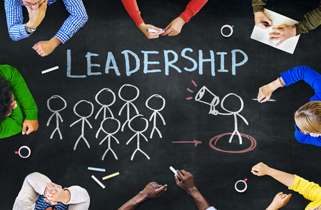 Multi-Ethnic Group of People and Leadership Concepts photo