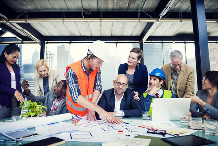 asian architect: Diverse Group of People Brainstorming Stock Photo