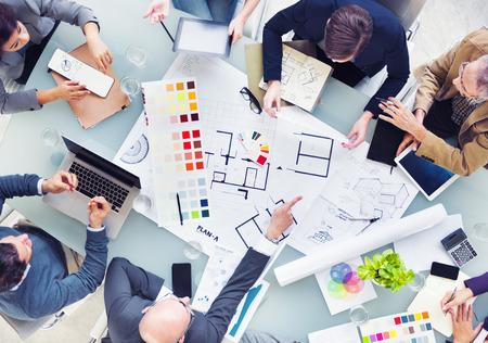 arquitecto: Diseño Planificación equipo para un nuevo proyecto Foto de archivo