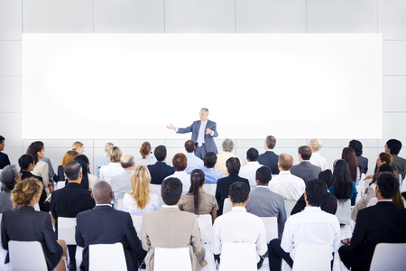 Large group of business people in presentation. Imagens - 31306369
