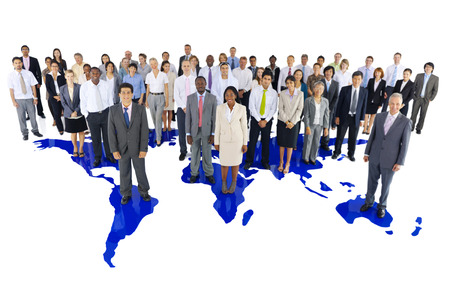 community people: Large Group of Business People Stock Photo