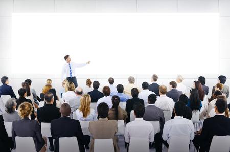 Grote zakelijke presentatie