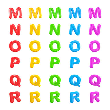 English multi coloured alphabet. photo