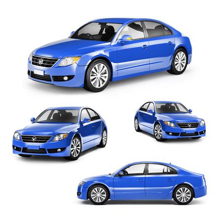 別の位置で青い車のイメージ