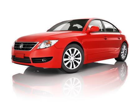 domestic car: Red car
