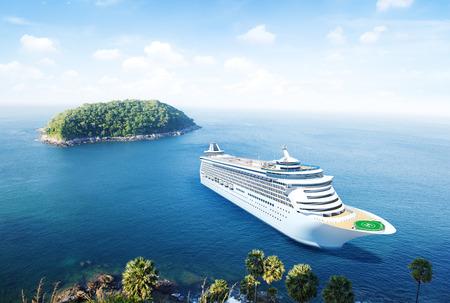 cruise ship: Cruise in the Ocean
