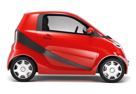 land vehicle: Red Hybrid car.
