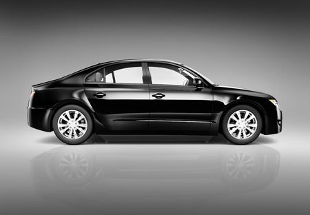 Three Dimensional Image of a Black Luxury Car
