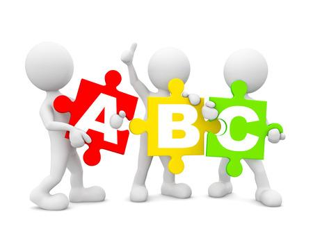 pila bautismal: Grupo de personas que tienen múltiples Inglés alfabeto coloreado.