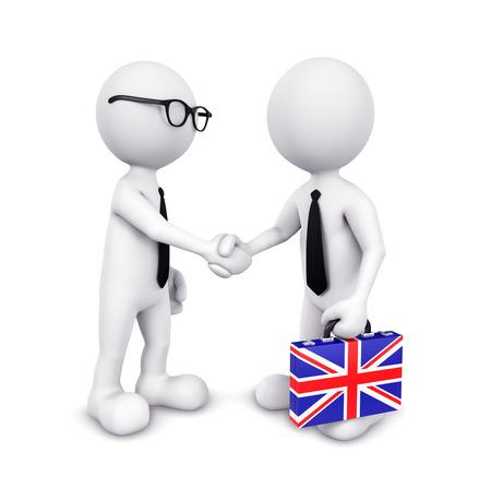 3D Businessman handshaking photo