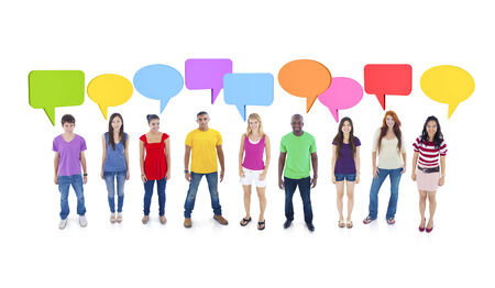 group discussion: Group Discussion Stock Photo