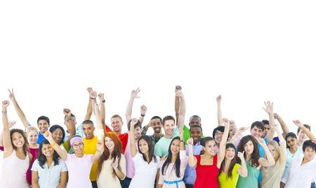menschenmenge: Gro�e Gruppe von Menschen feiern