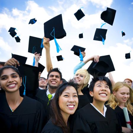 ceremonia: Los estudiantes graduados Foto de archivo