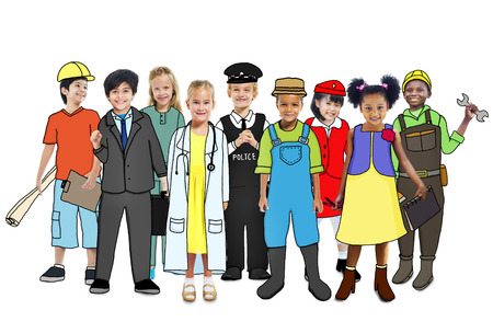 various occupations: Multiethnic Group of People with Various Occupations Concept Stock Photo